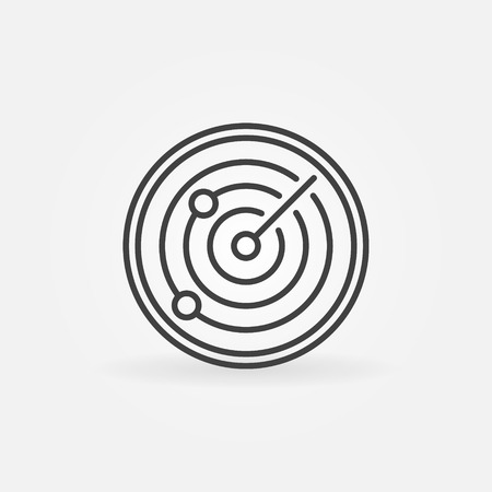 simple logo: Radiolocation icon or logo - vector dark simple sign Illustration