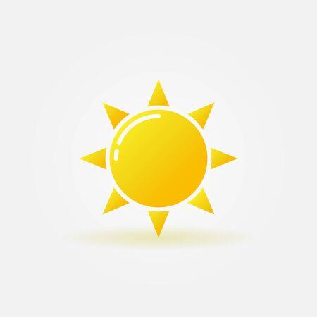 sunlight: Yellow sun icon - vector sunlight isolated symbol or logo