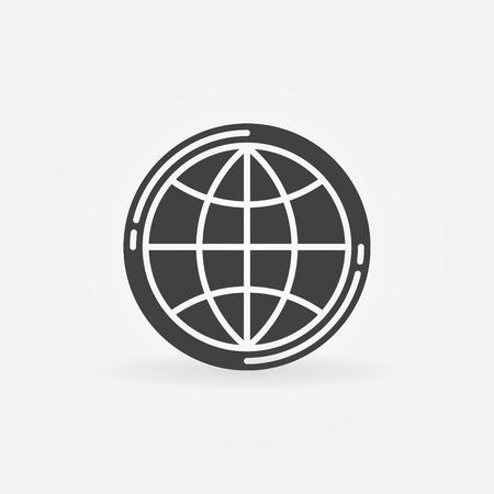 simple logo: Earth globe icon - vector simple globe symbol or logo element Illustration