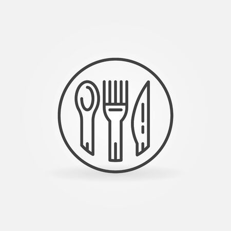 spoon fork: Spoon, fork and knife icon