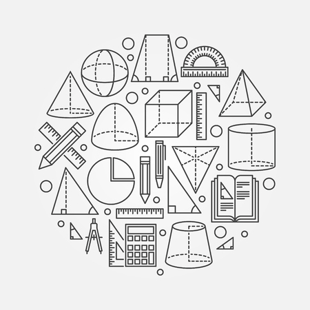 Trigonometry and geometry illustration  イラスト・ベクター素材