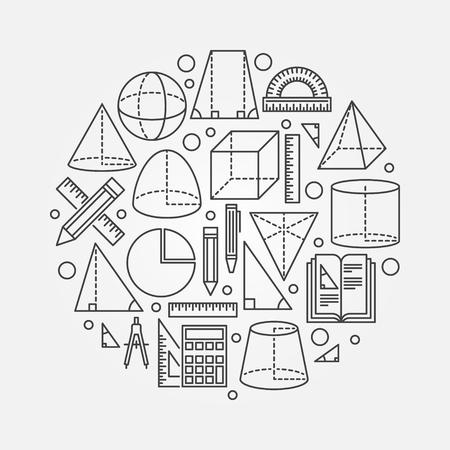 Trigonometry and geometry illustration Illustration