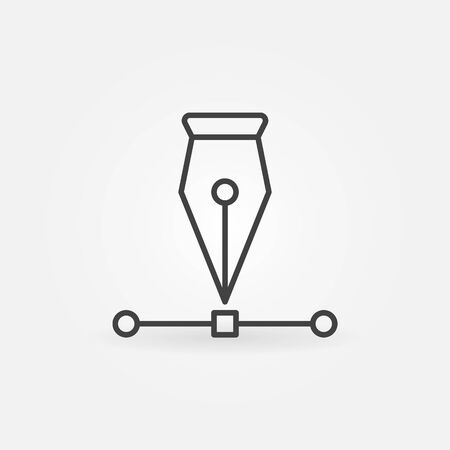 Pen tool icon Illustration