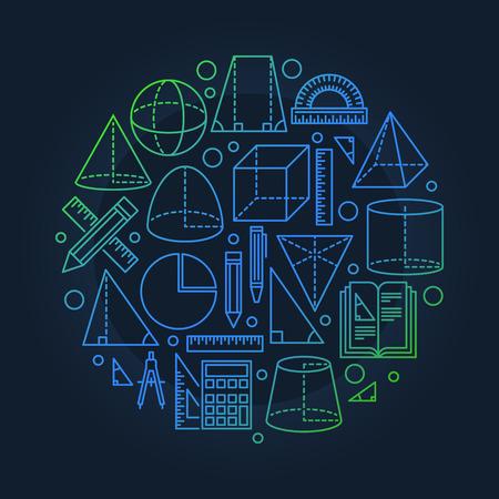 School geometry background Imagens - 53343310
