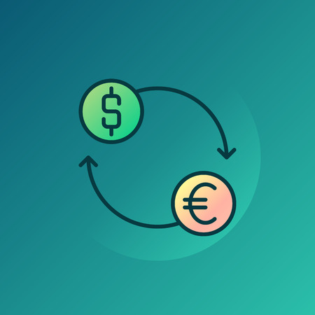 currency exchange: Currency exchange illustration - vector euro and dollar exchange symbol or sign