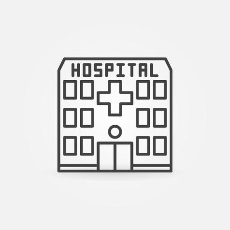 li: Hospital building icon Illustration