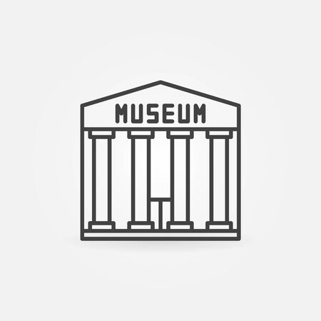 art museum: Museum building icon - vector simple symbol or sign in thin line style
