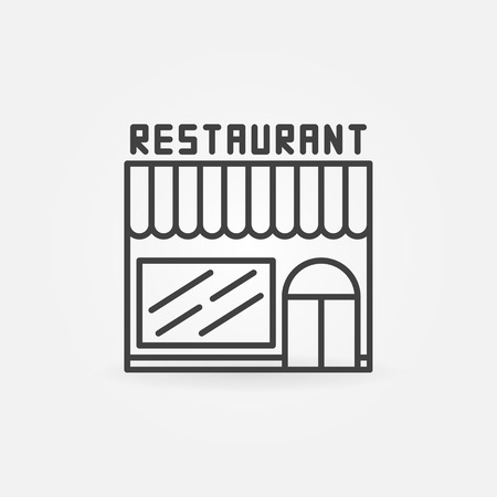 linear: Restaurant linear building icon.