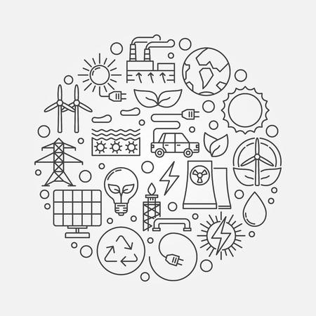 alternative: Alternative energy sources illustration Illustration
