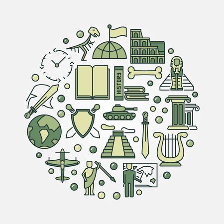 soumis: histoire plat illustration école toute l'histoire du monde vert signe sujet