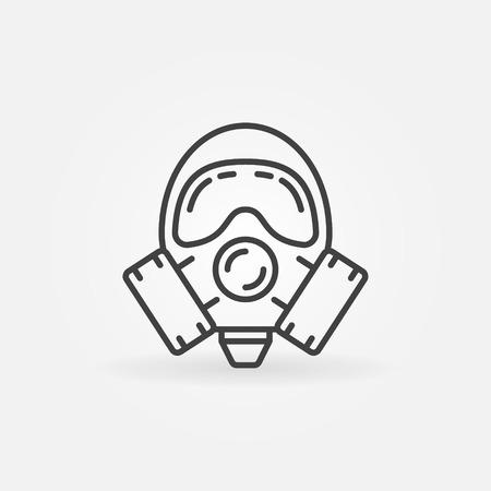 gasmask: Gas mask line icon.