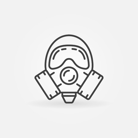 Gas mask line icon.