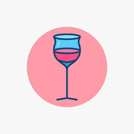 Wine glass colored icon. Vector creative madeira glass symbol or logo element