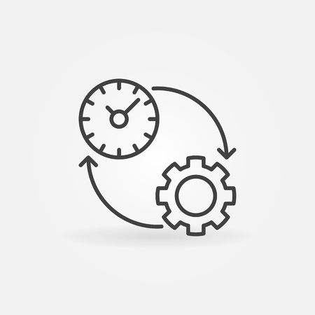 productivity: Productivity line icon. Vector time management and productivity concept symbol