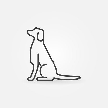 Dog line icon - vector linear concept sign or logo element