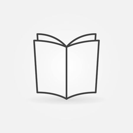 graphic novel: Book outline vector icon Illustration