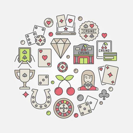 Casino flat illustration
