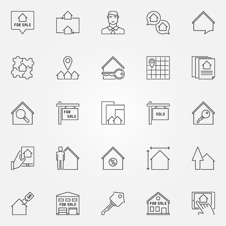 forsale: Real estate icons set