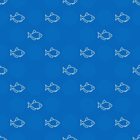 Blue aquarium fish pattern