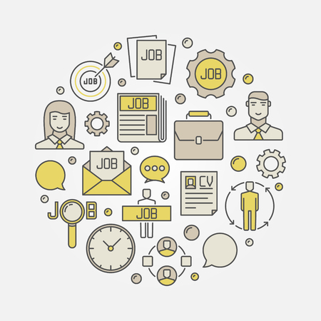 Employment and job illustration Vectores