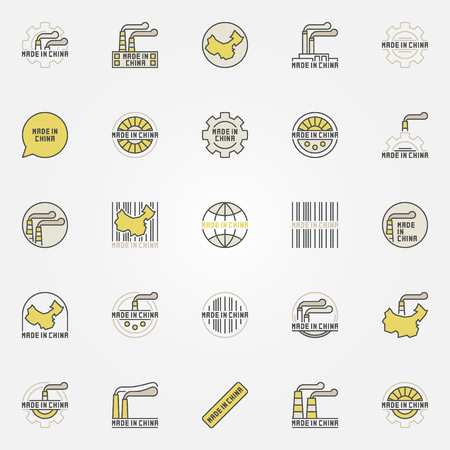 Made in China colorful icons