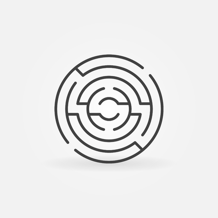 Circular maze icon. Ilustrace