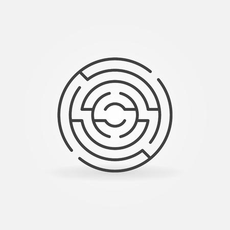 Circular maze icon. Illustration