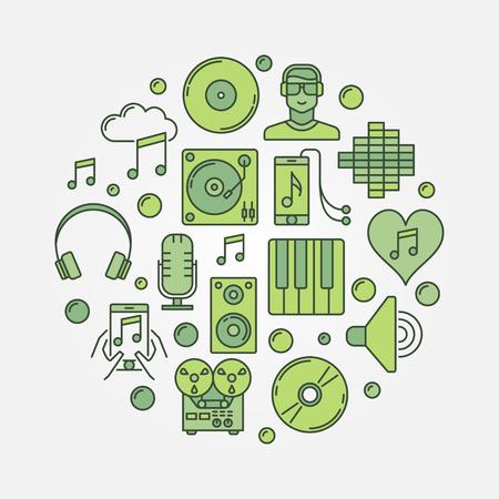 Music circular sign.