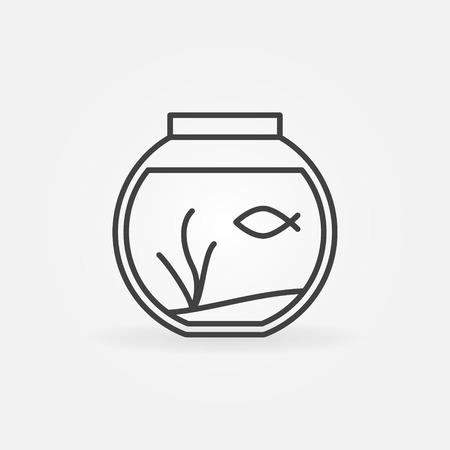 fishtank: Fish bowl outline icon.