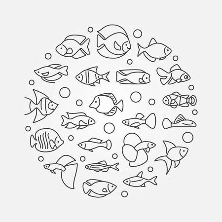 aquarium hobby: Aquarium fish illustration.