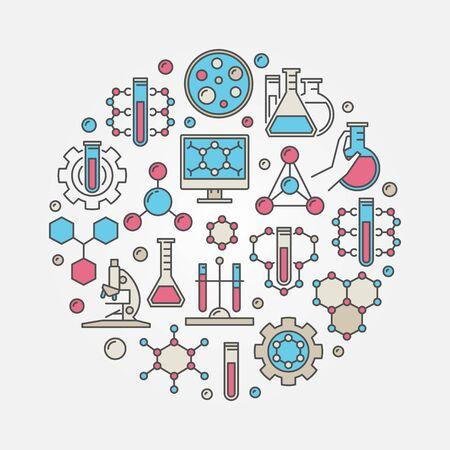 Chemical round illustration