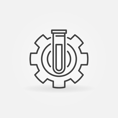 laboratory equipment: Test tube in gear icon
