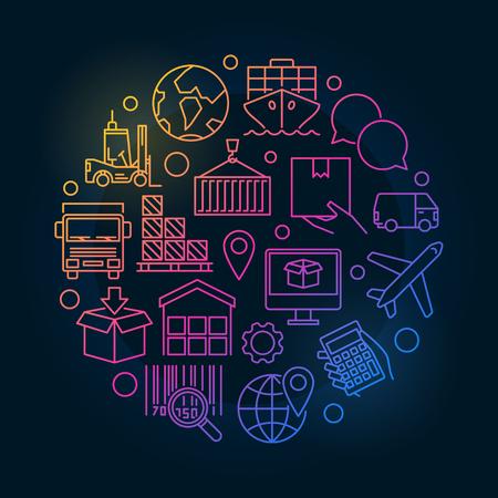 Logistic concept colorful illustration