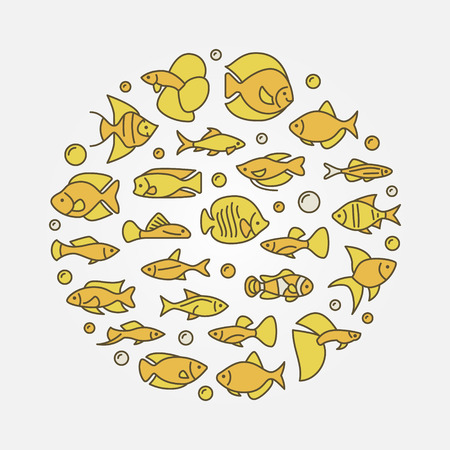 mollienesia: Aquarium fish yellow illustration Illustration