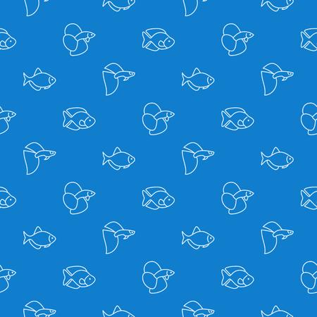 simple aquarium fish blue pattern royalty free cliparts vectors