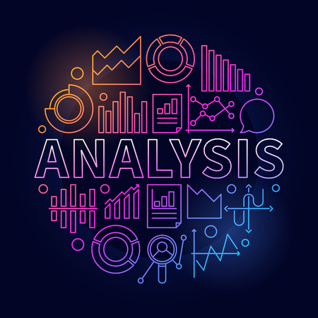 Analysis vector colorful illustration Illustration