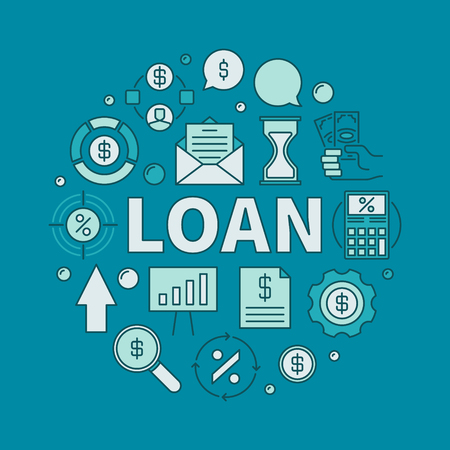 Loan circular colorful illustration