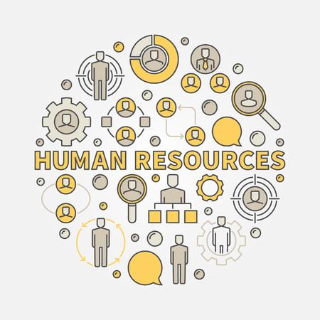 HR colorful illustration