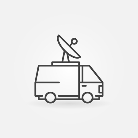 news van: News van icon Illustration