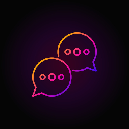 speech buble: Speech bubbles colorful icon