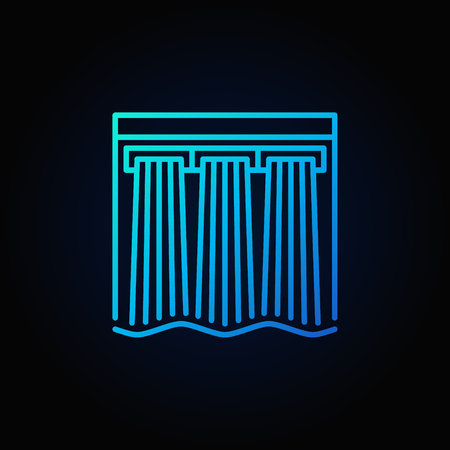hydroelectricity: Hydroelectricity vector blue icon