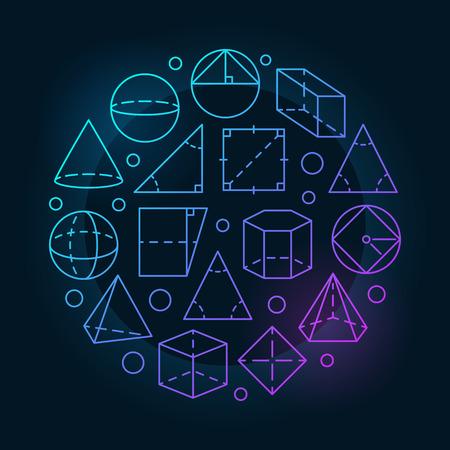 Basic geometry colorful illustration