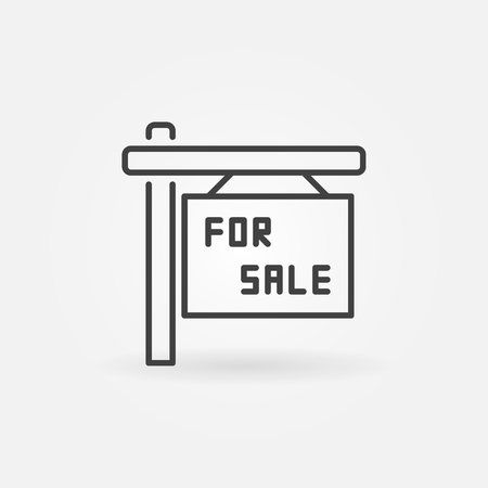 forsale: House for sale icon Illustration