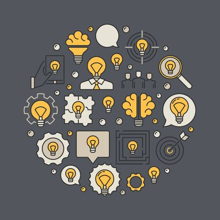 to contemplate: Business idea illustration Illustration