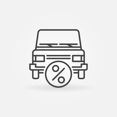 Auto leasing pictogram