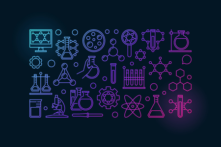Colorful chemistry banner