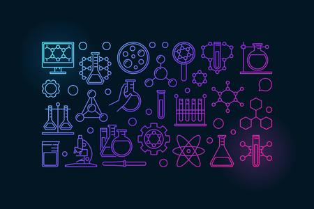 Banner de química colorida