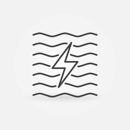 Hydroelectricity minimal icon