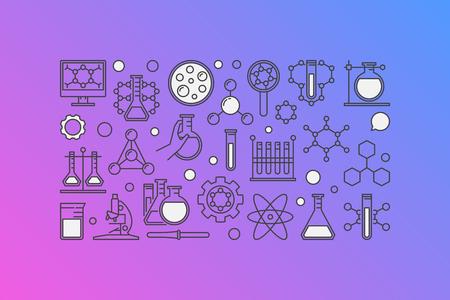 Chemistry colorful banner Illustration