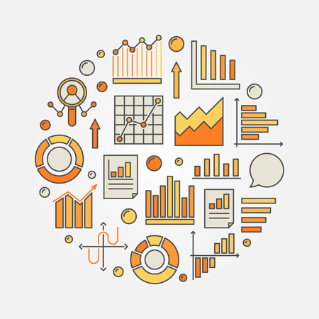 Analysis colorful illustration